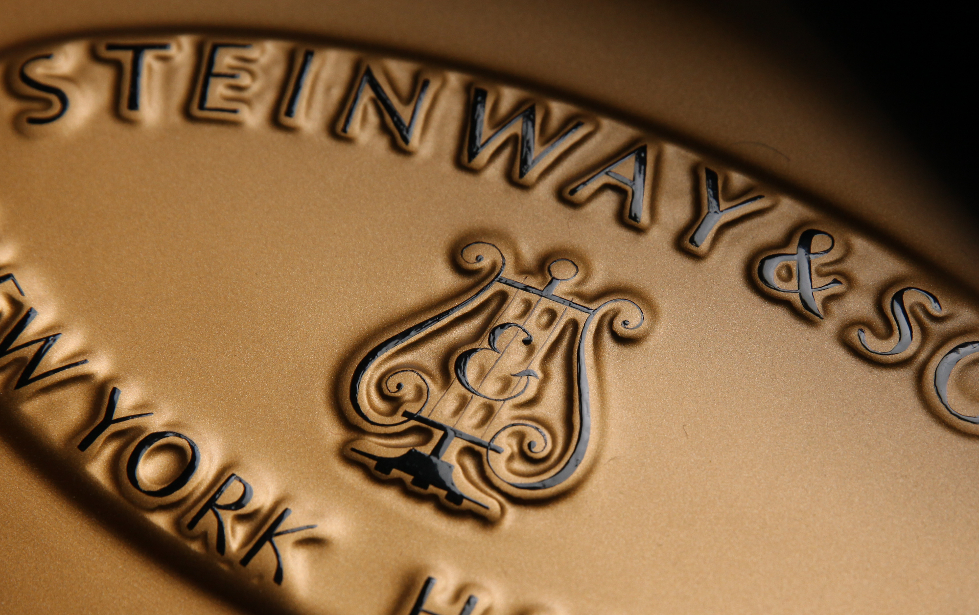 Steinway Gussplatte
